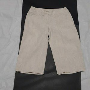 Marks & Spencer Beige Relaxed Fit Coulotte Pants